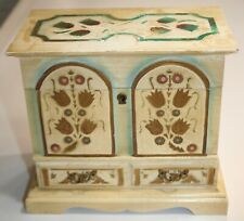 Wooden Musical Jewelry Box Hand Painted
