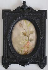 Francese Napoleone III scolpito cornice in legno di ebano. finissima qualità.