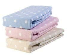 EVESHAM DOUBLE FLAT PINK POLKA DOT FLANNELETTE SHEET LUXURY SUPERIOR QUALITY