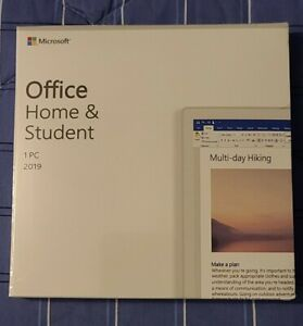 Microsoft Office Home and Student 2019 | PC ONLY | 1 USER | KEYCARD