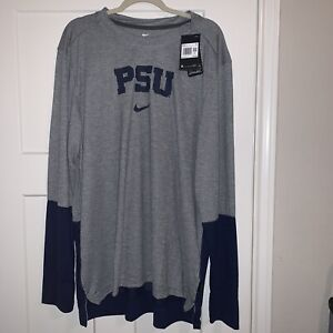 NIKE DRI FIT ON FIELD PENN STATE NITTANY LIONS NCAA LONG SLEEVE PULLOVER 2XL