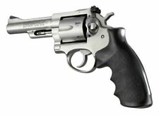 Hogue 87000 Ruger Security Six Rubber Grip w/Finger Grooves Black