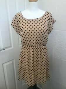 New Look - Peach and Black Spotted Dress - 12