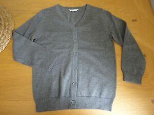 Girls Grey School Cardigan John Lewis Age 3 4 5 6 7 8 to 14 Years BNWOT FREEPOST