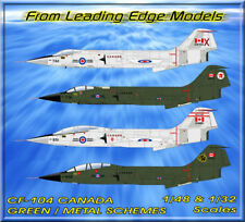 1/32 F-104 Starfighter Canada Green & Metal / Red Scheme decal by Leading Edge