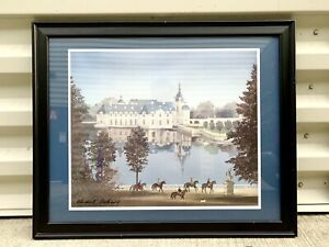 "MICHEL DELACROIX ""CHATEAU DE CHANTILLY"" FRAMED & HAND SIGNED Print"