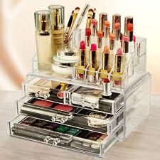 8 X Joyería Maquillaje Caja Organizador Cosméticos Almacenamiento Transparente