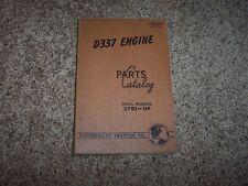 Caterpillar Cat D337 Engine 37B1- Factory Parts Catalog Manual Manual
