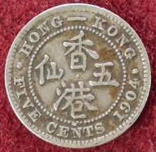 Hong Kong 5 centavos de 1904 (D2208)