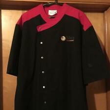 Happy Chef Brand Chef Coat Size 2Xl Nearly New Black/Red Kit 00006000 Chen Food Service