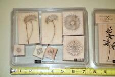 "Stampin' up! ""Reason to Smile"" Wood Mounted rubber stamp set of 7, Daisy Flowers"