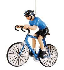 GALLERIE II HAND PAINTED BLUE BIKE RACER 10 SPEED TOUR DE FRANCE XMAS ORNAMENT