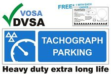 MOT SIGNS | MOT SIGN | VOSA  DVSA | TACHO | H/DUTY TACHOGRAPH PARKING SIGN