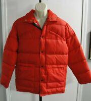 Men's Vintage Red Forester Down Jacket Coat, Size M