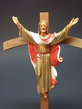 Vintage Italian Cross 1984 Wood Plastic Used