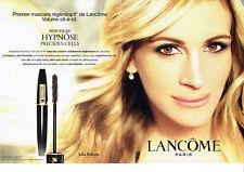Publicité Advertising 107   2011  Lancome (2p) maquillage & Julia Roberts