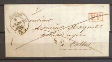 1843 Lettre en port payé CAD T14 LORGUES (78) + PP rouge VAR Superbe. X3541