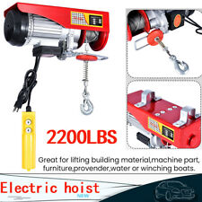 2200Lb Electric Wire Hoist Winch Hoist Crane Lift 40 ft W/ Remote Control 1 Ton