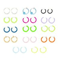 Clip-On Spring Action Non-Piercing Fake Cartilage Lip Nose Faux Septum Ring-Pair