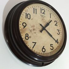 More details for vintage large bakelite smith sectric industrial  / station retro wall clock