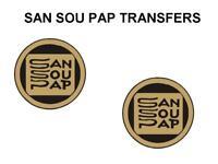 SAN SOU PAP TANK TRANSFERS DECALS MOTORCYCLE DSOU2 SOLD AS A PAIR