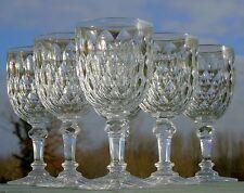 Baccarat - Service de 6 verres à eau en cristal taillé, modèle Juvisy