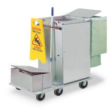 Royce Rolls #F2436-LST2E Stainless Steel Wide-Mini Microfiber Housekeeping Cart