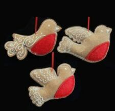 Décorations de sapin de Noël figurines en tissu