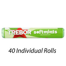 TREBOR SOFTMINTS PEPPERMINT MINTS ROLLS 44.9g x 40 WHOLESALE DISCOUNT 179484