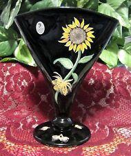 "Fenton 8"" Black Vase STORE EXCLUSIVE part of the 4 Season's series used in 2002"