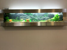 NEW DESIGNER AQUARIUM 5ft 1.5M SMOOTH STAINLESS WALL MOUNT FISH TANK TROPICAL