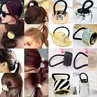 Fashion Women's Hair Band Rope Metal Hair Cuff Headband Elastic Ponytail Holder