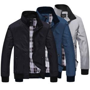 Herren Mantel Jacke Übergangsjacke Regenjacke Windbreaker Sweatshirt Outwear DE