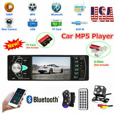 4.1'' Car Stereo MP5 MP3 Player Single 1DIN FM Radio Bluetooth USB AUX + Camera