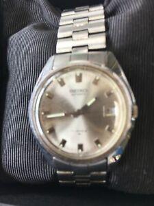 Seiko Mans Watch Vintage Water Proof 17 Jewels Silver face 7005-8002 Original Da