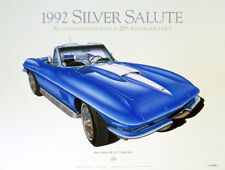 1967 CORVETTE CLASSIC CAR POSTER AUTOMOTIVE FINE ART PRINT GICLEE OF PAINTING!