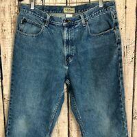 L.L. BEAN CLASSIC FIT 5 Pocket Classic Blue Denim Jeans Men's Size: 36x29
