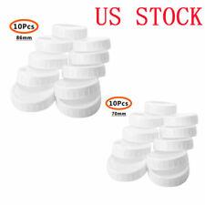 10pcs Plastic Storage Caps Lids Ribbed for Mason Jar Standard Regular Wide Mouth
