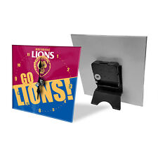 Brisbane Lions AFL Mini Analogue Glass Clock Bedside Table Christmas Gift