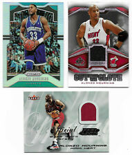 Lot of ALONZO MOURNING Feel the Game Used Jersey SPGU Prizm Refractor Cards Heat
