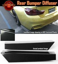"21"" Rear Bumper Carbon Effect Fin Apron Splitter Diffuser Valence Spats For  BMW"
