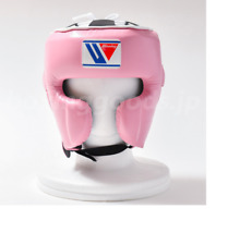 Authentic Winning Boxing Headgear Faceguard type M size Pink FG2900 from JAPAN