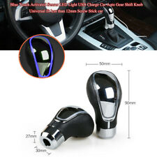 Blue Touch Sensor LED Light USB Charge Universal Car Auto Gear Shift Knob Parts