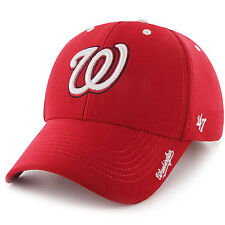 ff937cad4d0 Washington Nationals 47 Brand Condenser MVP Adjustable Hat Baseball Cap Red
