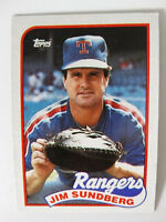 1989 Topps Jim Sundberg Texas Rangers Wrong Back Error Baseball Card