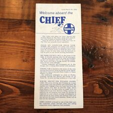 1968 Santa Fe Railway Brochure Welcome Aboard the Chief Railroad Train Info