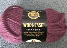 Lion Brand Wool-Ease Thick & Quick Yarn~~1 Skein ~ Fig color #146
