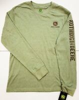 NEW John Deere Green Long Sleeve T-Shirt NRLAD Slogan on Sleeve M L XL 2X