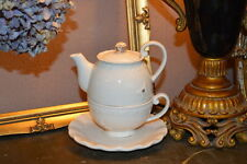 Bombay Duck, 'All of A Flutter' Tea for One, Teacup & Teapot Set in White