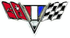 65-67 CAMARO, CHEVELLE V-FLAG FENDER EMBLEM, EACH